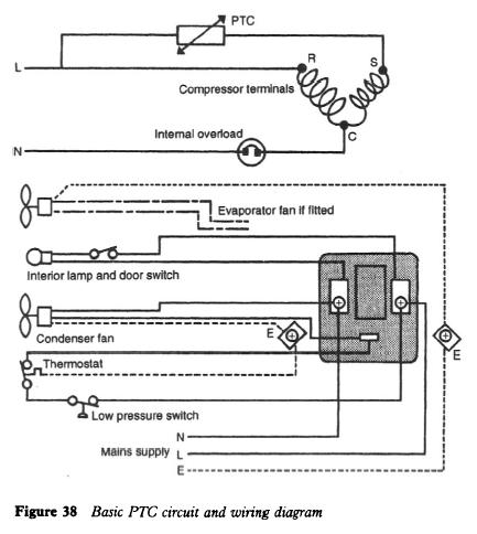 Basic PTC circuit and wiring diagram