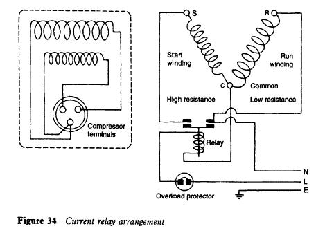 refrigerator current relay refrigerator troubleshooting diagram rh refrigeratordiagrams com tecumseh compressor start relay wiring danfoss compressor start relay wiring