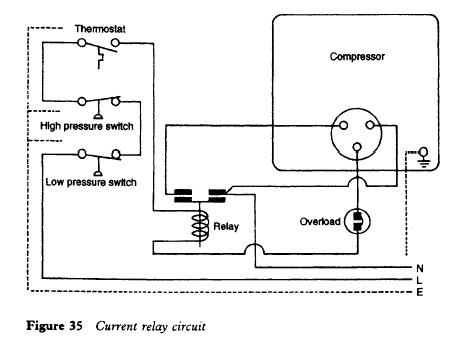 refrigerator current relay circuit refrigerator current relay refrigerator troubleshooting diagram wiring diagram for a refrigerator compressor at mifinder.co
