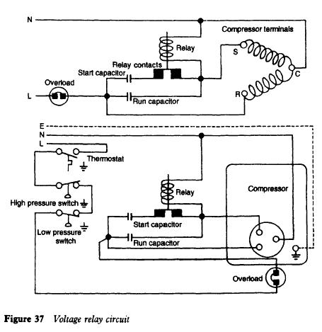 refrigerator potential relay refrigerator troubleshooting diagram voltage relay circuit