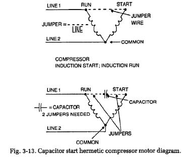 capacitors-compressors-diagram